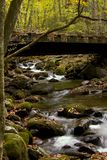 Bridge in Roaring Forks. In Great Smoky Mountains royalty free stock photo