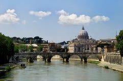Bridge in Rome stock photos