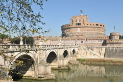 Bridge in Rome Stock Photo