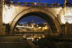 Bridge in Rome Royalty Free Stock Images