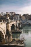 Bridge in Rome Stock Image