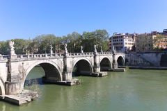 Bridge in Rome,Italy Stock Photo
