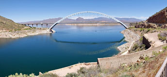 The Bridge at Roosevelt Dam  Royalty Free Stock Images