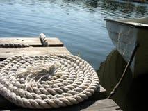 Bridge with rope Stock Image