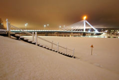 Bridge in Rovaniemi Royalty Free Stock Photos