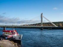 Bridge in Rovaniemi Royalty Free Stock Images