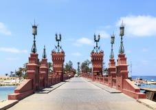 The bridge in Royal Park of El Montazah palace in Alexandria. Stock Photos