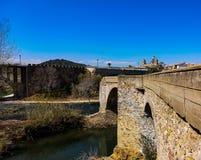 Bridge in ruins stock images