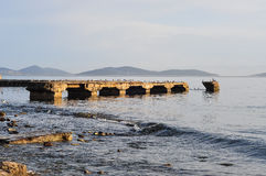 Bridge Ruins In The Sea Royalty Free Stock Photo