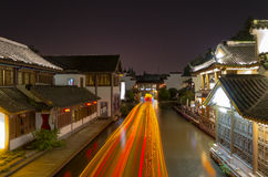 Bridge  Running water  Town  Lightship Royalty Free Stock Images