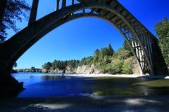 Bridge at Russian gulch state park. Highway 1 bridge over Russial Gulch State Park along Mendocino coast Stock Image