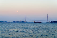 The bridge on the Russian island in Vladivostok. Stock Photography