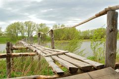 Bridge. In the Russian village Royalty Free Stock Image