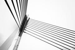 The bridge's design is unique cable-stayed arch bridge. The Seri Saujana Bridge is a main bridge in Putrajaya, the Malaysian federal administrative capital. The Royalty Free Stock Image