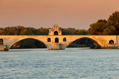Bridge Saint-Bénezet, Avignon, France Stock Images