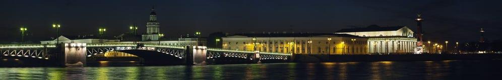 Bridge in Saint Petersburg. Panorama image of Bridge in Saint Petersburg, Russia royalty free stock photography
