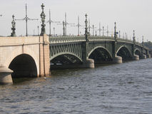 Bridge in Saint Petersburg Royalty Free Stock Photo