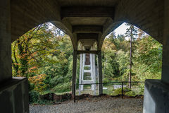 Bridge At Saltwater Park 4. A view from beneath the bridge at Saltwater State Park in Washington State stock image