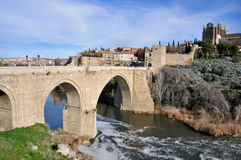 Bridge of San Martin, Toledo (Spain) Stock Images