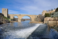 Bridge of San Martin, Toledo (Spain) Royalty Free Stock Images