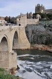 Bridge of San Martin, Toledo (Spain) Stock Photo
