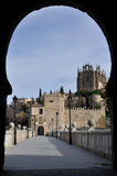 Bridge of San Martin, Toledo, Spain Stock Images