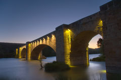 Bridge of San Vicente de la Sonsierra Stock Images