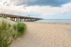 Bridge and Sand Stock Image