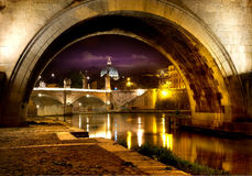 Bridge Sant Angelo Stock Photo