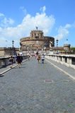 Bridge Sant'Angelo rome italy Stock Photo