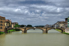 Bridge Santa Trinita over Arno Royalty Free Stock Photography