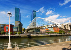 Bridge by Santiago Calatrava. Bilbao Stock Photo