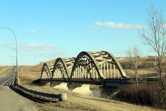 Bridge. Between Saskatoon, SK and Battleford, SK Stock Photography
