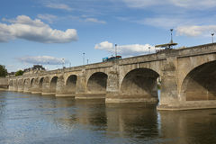 Bridge of Saumur Stock Image