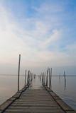 Bridge into the sea Stock Image