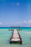 Bridge in the sea Royalty Free Stock Image