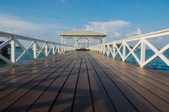 bridge sea beach travel holiday Stock Image