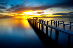 Bridge into the sea Royalty Free Stock Image