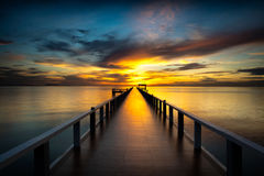 Bridge into the sea Stock Photography