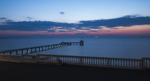 Bridge on the sea. Surise bridge on the sea Royalty Free Stock Photography