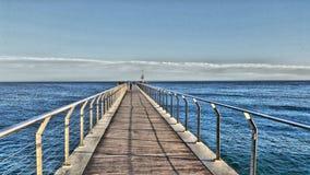 Bridge sea Royalty Free Stock Image