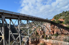 Bridge Sedona Mountains. Bridge Scene  in Sedona, Arizona Royalty Free Stock Photos