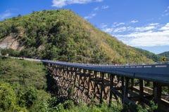 Bridge. See view cliff stone stone thailand travel vapor Stock Photos
