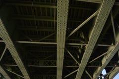 A bridge seen from below stock photos