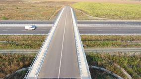 Bridge seen from drone stock footage
