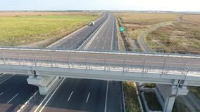 Bridge seen from drone stock video footage