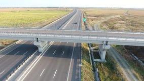 Bridge seen from drone stock video