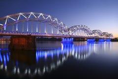 Bridge seen at evening Royalty Free Stock Photo