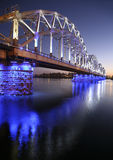 Bridge seen at night Royalty Free Stock Photos