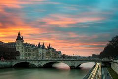 Bridge on Seine Stock Image